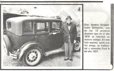 Foto de Ignacio Droppelmann uno de los primeros alumnos del Colegio Germania de Puerto Varas