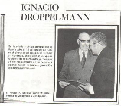 foto Ignacio Droppelmann uno de los primeros alumnos del Colegio Germania de Puerto Varas