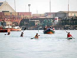 Cuarta Zona Naval de Iquique  brinda apoyo a campeonato infantil de canotaje